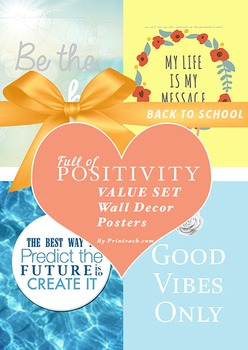 Back to School Quotes Posters Bundle (High Quality Prints)