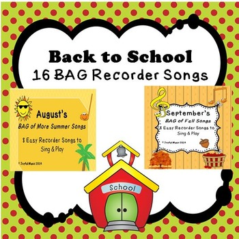 Back to School RECORDERS August & September
