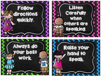 Back to School RULES ~ Posters for your Classroom!