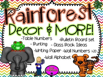 Back to School- Rainforest Decor and MORE!