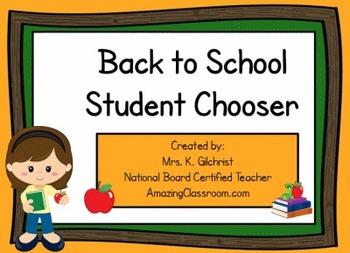Back to School Random Student Chooser - Promethean ActivIn