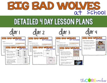 Big Bad Wolves at School: Interactive Read-Aloud Lesson Plans and Activities
