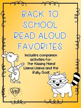 Back to School Read Aloud Activities: Llama Llama and the Kissing Hand