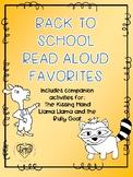 Back to School Read Aloud Activities: Llama Llama and the