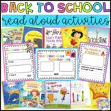 Back to School Read Aloud Activities Bundle: No Prep