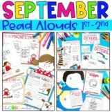 September 1-2 Back to School Bundle:Interactive Read-Aloud Lesson Plans