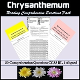 Back to School Read Aloud Chrysanthemum Common Core Aligned RL.1