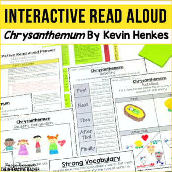 Back to School Read Aloud: Chrysanthemum, Interactive Lesson Plans & Activities