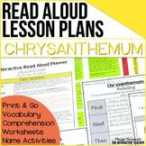 Back to School Read Aloud: Chrysanthemum, Interactive Less