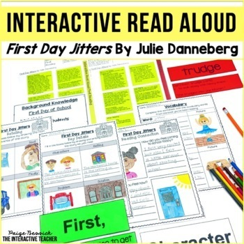 Back to School Interactive Read Aloud Lessons & Activities: First Day Jitters