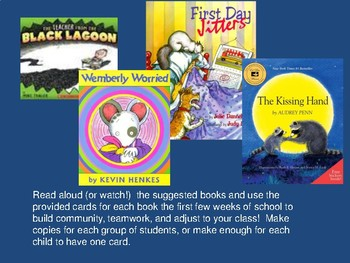 Back to School Read Aloud Discussion Cards