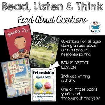 Back to School Read Aloud Resource