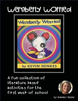 Back to School Read Aloud: Wemberly Worried Activity Packet