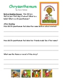 Back to School Read Aloud Worksheets Common Core Aligned