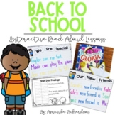 Back to School Read Alouds Activities: First Week of Schoo