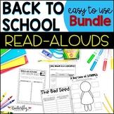 Back to School Read-Alouds Activities   Printable + Google Slides