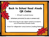 Back to School Read Alouds QR Codes
