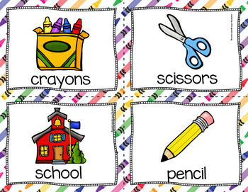 Back to School: Read, Write and Count the Room (Literacy and Math)