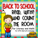 Back to School: Read, Write and Count the Room (Literacy a