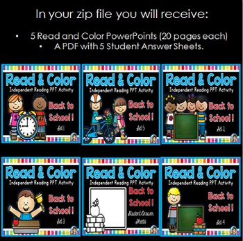 Following Directions PowerPoint Back to School Bundle