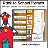 Back to School Reader and Pocket Chart Sentence Set