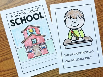 Back to School Reader for:  Back to School, Recess, Fire Drill, First Day