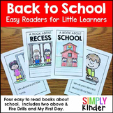 Back to School Reader for:  Back to School, Recess, Fire D