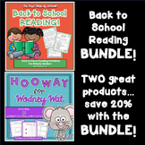 Back to School Reading BUNDLE!