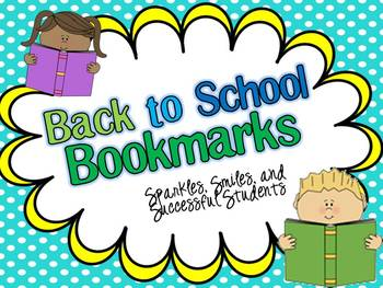 Back to School Reading Bookmarks!