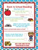 Reading No Prep Printables- Back to School Themed