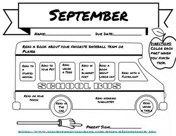 Back to School Reading Challenge (September)