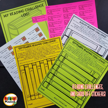 Back to School Reading: Challenges, Logs, and Responses,  with Show off Stickers