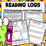 Back to School Reading Logs   Reading Activities   Reading Challenge