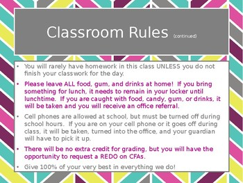 Back to School Reading Class Expectations PowerPoint