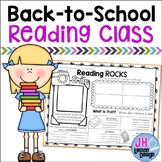 Back to School Reading Class: Getting To Know You Worksheet