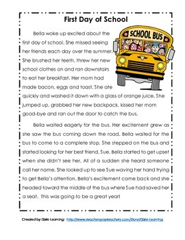 original-1284649-1 Reading Comprehension Lesson For First Grade on