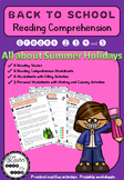 Back to School - Reading Comprehension Activities - Grades 2 to 5