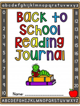 Back to School Reading Comprehension Journal
