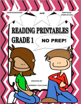 Reading Comprehension Passages and questions No Prep! Grade 1