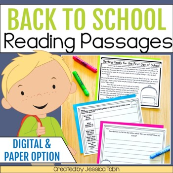 Back to School Activities- Fictional Reading