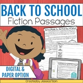 Back to School Activities- Fictional Reading