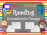 Reading Comprehension Passages-Back to School