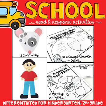 Back to School: Reading Comprehension, Writing and Craftivities