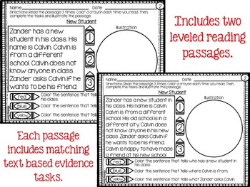Back to School Reading Comprehension and Writing Prompts