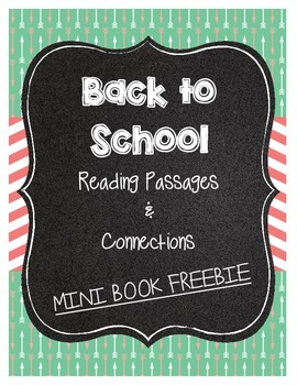 Back to School Reading Connections Mini-Book