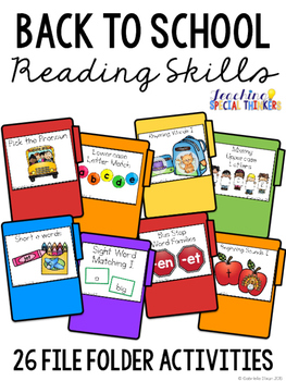 Back to School Reading File Folders