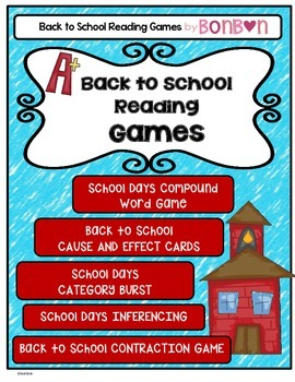 Back to School Reading Games
