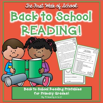 Back to School Reading {Graphic Organizers, Inventory, Pas