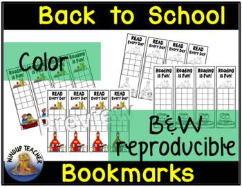 Back to School Reading Incentive Bookmarks