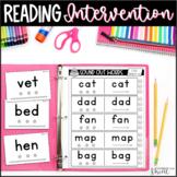 Back to School | Reading Intervention | K-1st Grade
